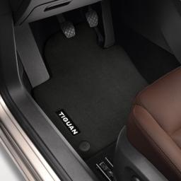 Original Volkswagen Satz Textilfußmatte Premium vorn VW Tiguan schwarz NEU