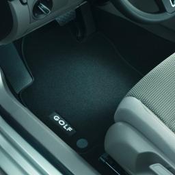 Original Volkswagen Satz Textilfußmatte Premium vorn VW Golf V / VI schwarz NEU