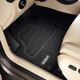 Original Volkswagen Satz Textilfußmatte Premium vorn & hinten VW Golf schwarz