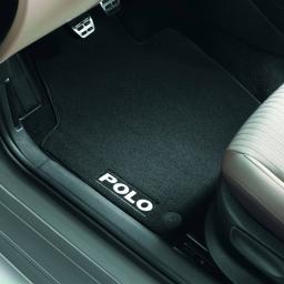 Original Volkswagen Satz Textilfußmatte Premium vorn & hinten VW Polo V schwarz