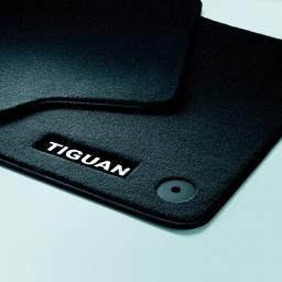 Original Volkswagen Satz Textilfußmatte vorn & hinten VW Tiguan schwarz NEU
