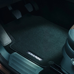 Original Volkswagen Satz Textilfußmatte Premium vorn & hinten Amarok schwarz NEU