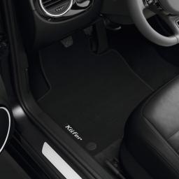 Original Volkswagen Satz Textilfußmatte vorn & hinten VW Beetle schwarz NEU