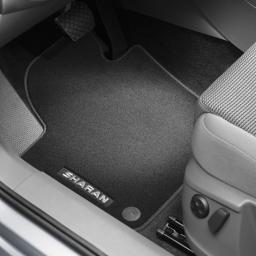 Original Volkswagen Satz Textilfußmatte Premium vorn & hinten VW Sharan schwarz
