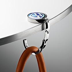 Original Volkswagen Handtaschenhalter Silber/Blau NEU