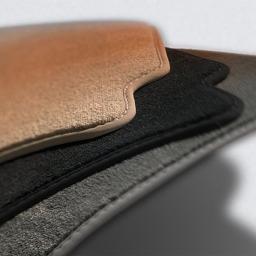 Original Volkswagen Satz Textilfußmatte hinten VW CC Passat VI / VII schwarz NEU