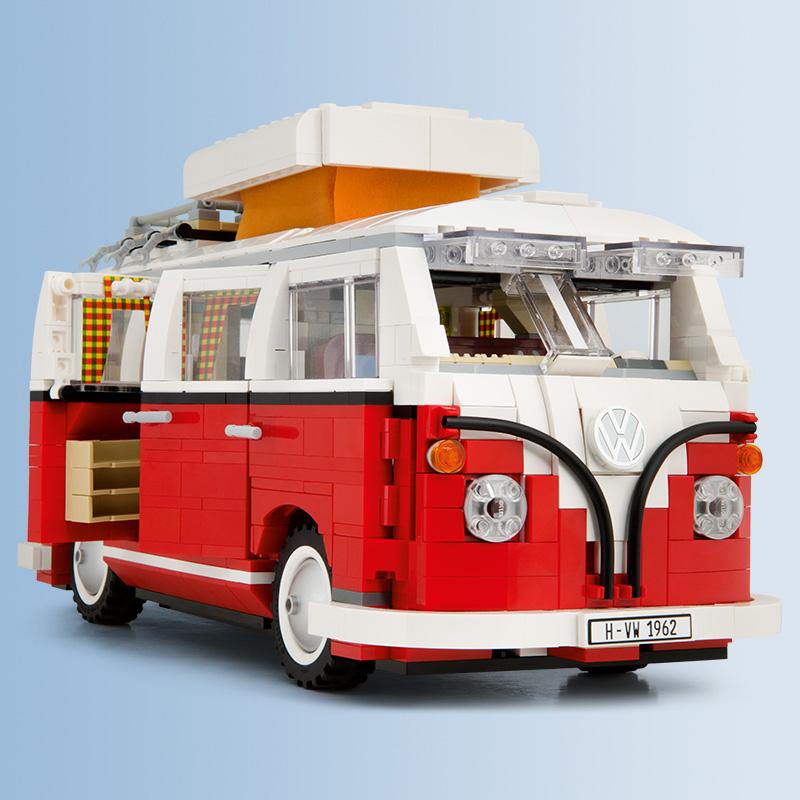 Original Volkswagen Lego T1 Campingbus VW Bulli rot NEU