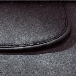 Original Volkswagen Satz Textilfußmatte Premium 2. Sitzreihe VW T5 schwarz NEU