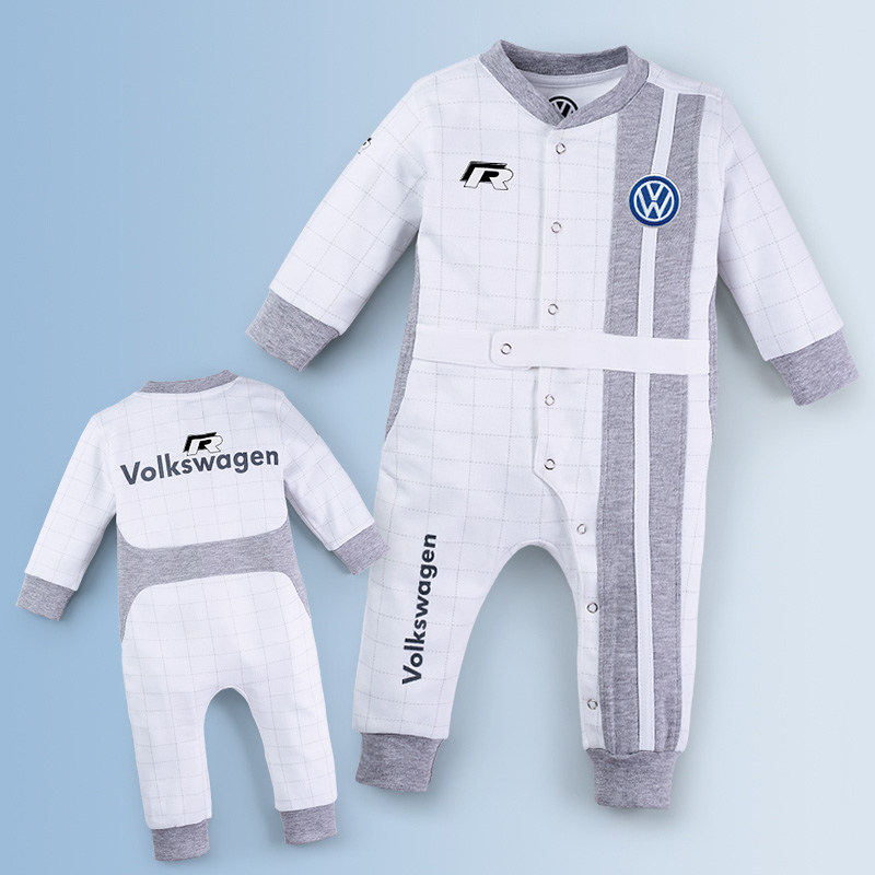Original Volkswagen Baby Strampler Motorsport grau NEU