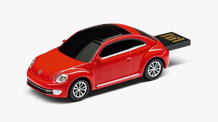 Original Volkswagen USB-Stick Beetle Auto rot NEU