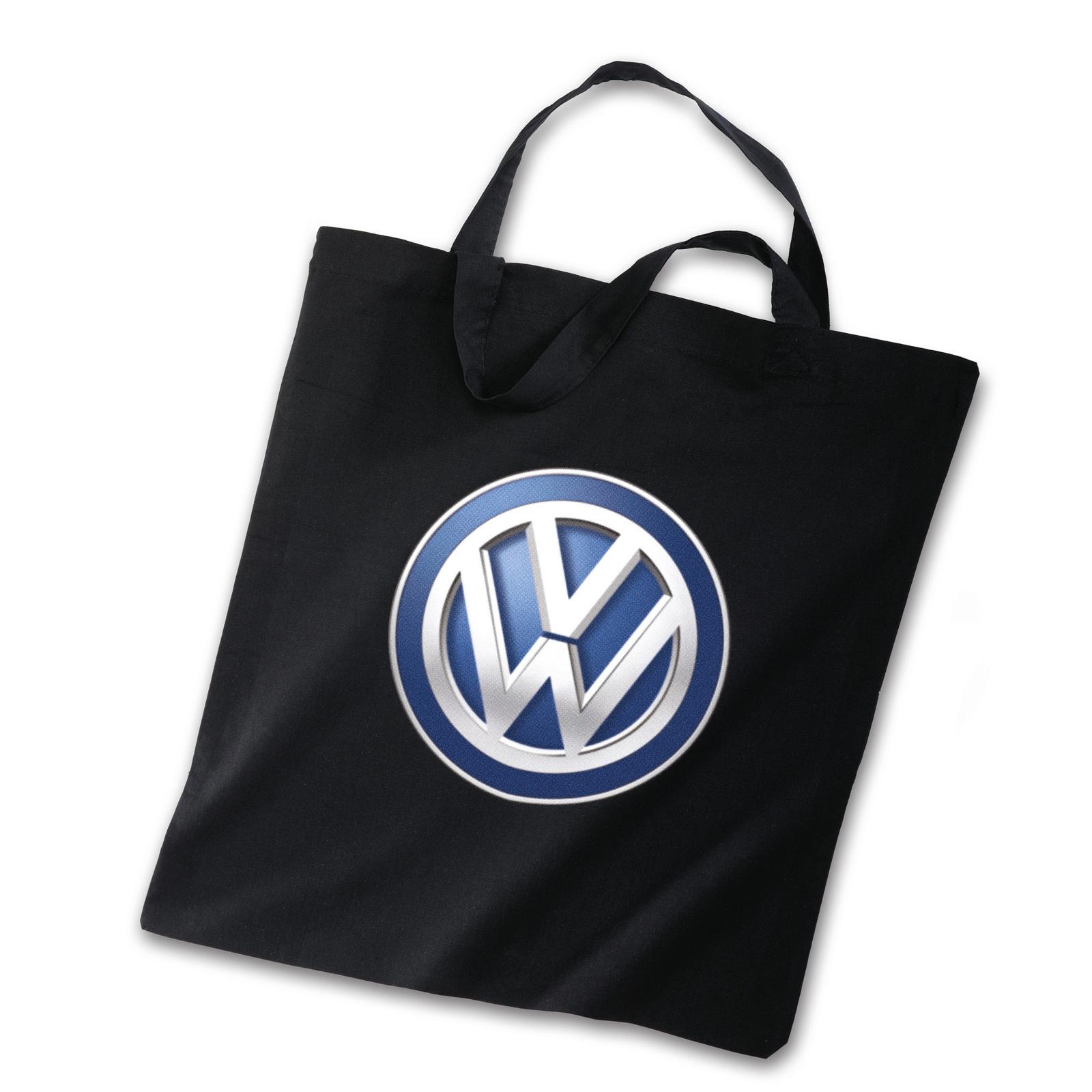 Original Volkswagen Baumwolltasche VW Logo schwarz NEU