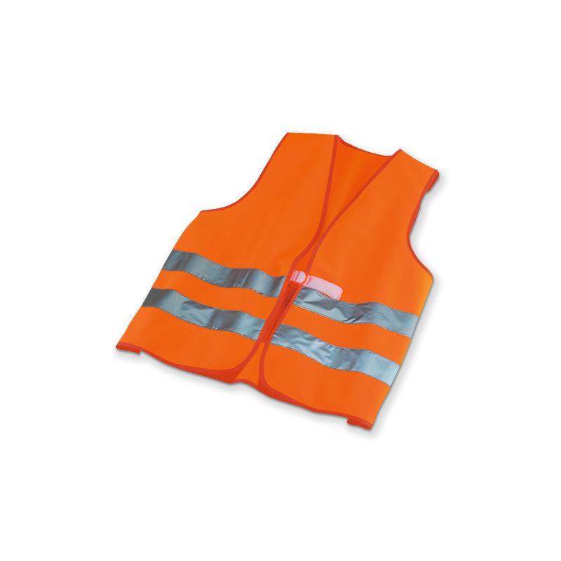 Warnweste (orange), aus Polyester & mit Klettverschluss DIN EN 471, Größe L