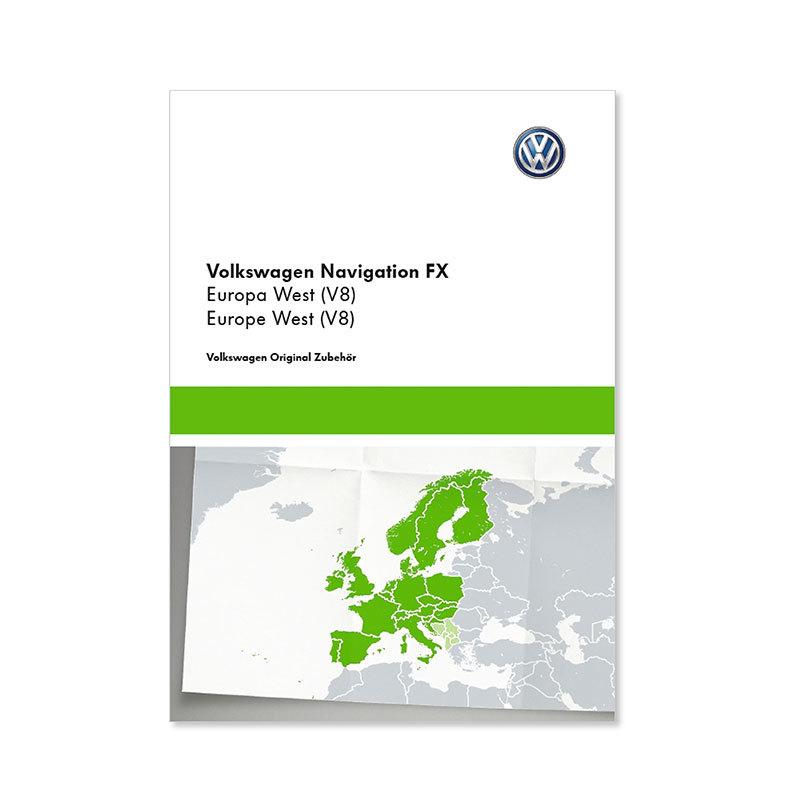 Volkswagen Original Navigations-Updates, SD Karte, RNS 310, FX Europa West (V9)