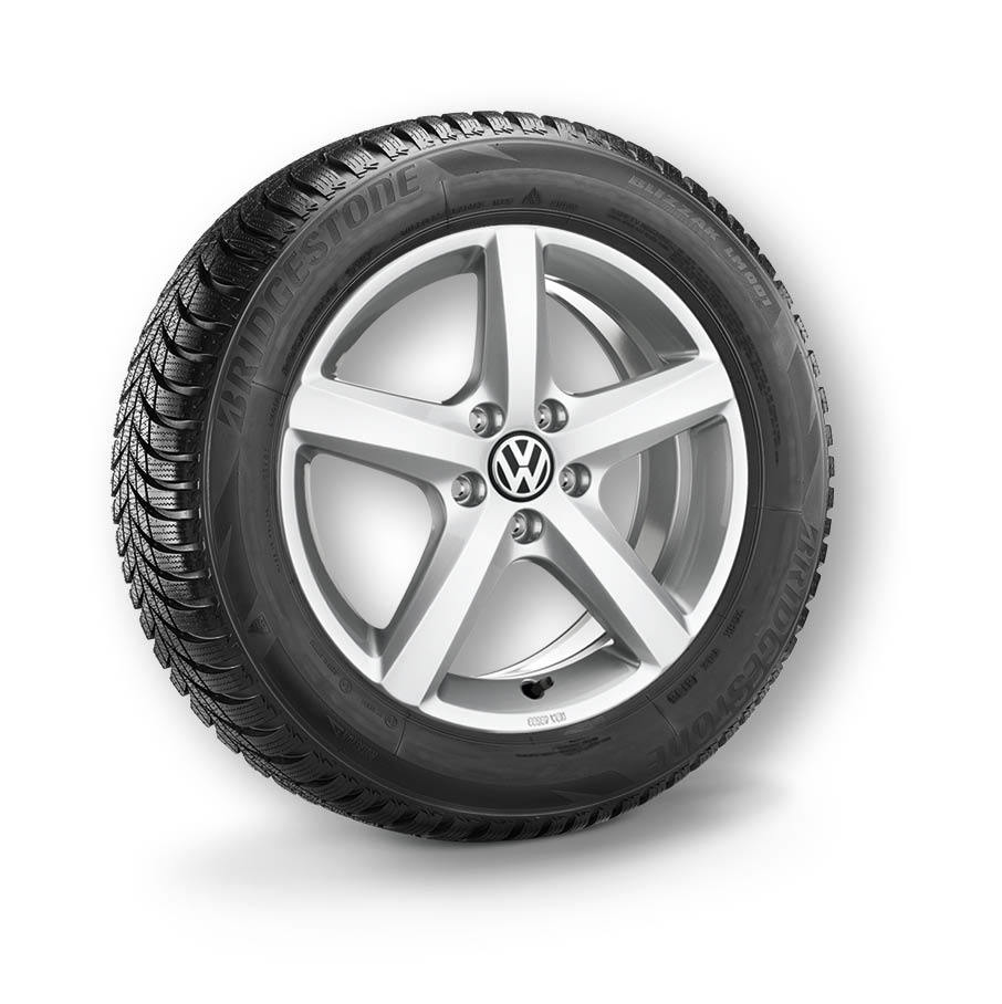 "Volkswagen Zubehör Alu-Winterkomplettrad ""Aspen"" Brillantsilber 6,0Jx16, ET48"