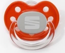Original SEAT Baby Schnuller mit SEAT Logo