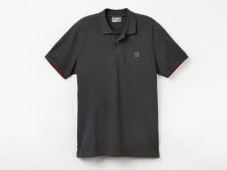 Original SEAT Damen Polo Shirt Poloshirt Polohemd, anthrazit, Größe L