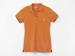 Original SEAT Damen Polo Shirt Poloshirt Polohemd, orange, Größe L