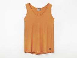 Original SEAT Damen T-Shirt ohne Ärmel, orange, Größe L