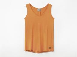 Original SEAT Damen T-Shirt ohne Ärmel, orange, Größe M