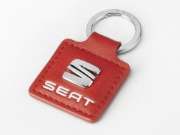 Original SEAT Schlüsselanhänger rot mit Metall Logo