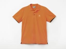 Original SEAT Herren Polo Shirt, orange, Größe S