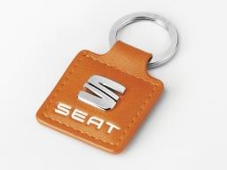 Original SEAT Schlüsselanhänger orange mit SEAT Logo