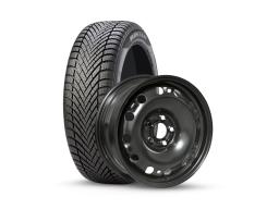 Original SEAT Winter Kompletträder Ibiza 6J Pirelli 185/60R15 auf Stahl schwarz
