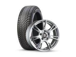 Original SEAT Winter Kompletträder Ibiza 6J Pirelli 185/60R15 auf Alu silber