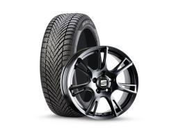 Original SEAT Winter Kompletträder Ibiza 6J Pirelli 185/60R15 auf Alu schwarz